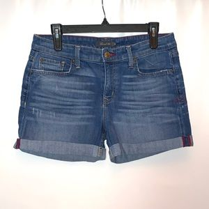 Level 99 Anthropologie cuffed Jean Shorts Size 28
